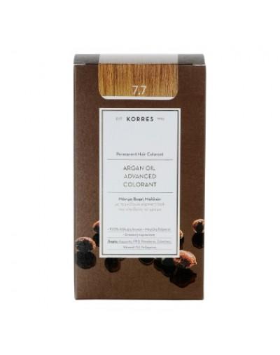 Korres Argan Oil Advanced Colorant Μόνιμη Βαφή Μαλλιών 7.7 Μόκα [ΚΩΔ.6595]