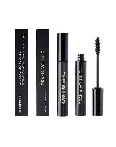 Korres Black Volcanic Minerals Drama Volume Mascara 01 Black 11ml [ΚΩΔ.8975]