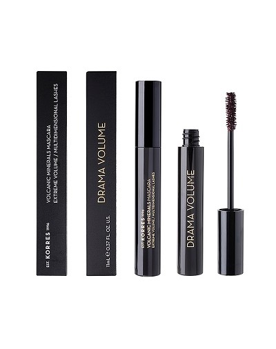 Korres Black Volcanic Minerals Drama Volume Mascara 02 Plum Brown 11ml [ΚΩΔ.8977]