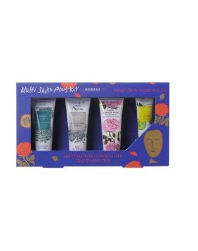Korres Multi Shots Play Kit Green Clay 18ml, Natural Clay 18ml,Μάσκα Damask Rose 18ml, Μάσκα Ματιών Cucumber 8ml [ΚΩΔ.8996]