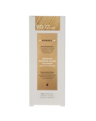 Korres Abyssinia Μόνιμη Βαφή Μαλλιών 9.0 Ξανθό Πολύ Ανοιχτό 50ml [ΚΩΔ.7272]
