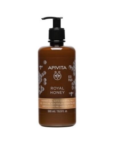 Apivita Eco Pack Royal Honey Κρεμώδες Aφρόλουτρο με Aιθέρια Έλαια 500ml [ΚΩΔ.9401]