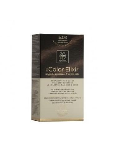 Apivita My Color Elixir Μόνιμη Βαφή Μαλλιών No. 5,03 Καστανό Ανοιχτό Φυσικό Μελί 1τεμάχιο [ΚΩΔ.9178]