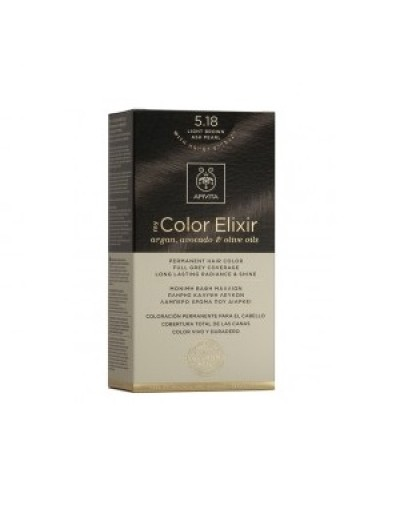 Apivita My Color Elixir Μόνιμη Βαφή Μαλλιών No 5.18 Καστανό Ανοιχτό Σαντρέ Περλέ 1τεμάχιο [ΚΩΔ.9162]