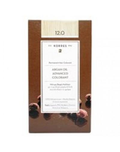 Korres Argan Oil Advanced Colorant Μόνιμη Βαφή Μαλλιών 12.0 Ξανθό [ΚΩΔ.7093]