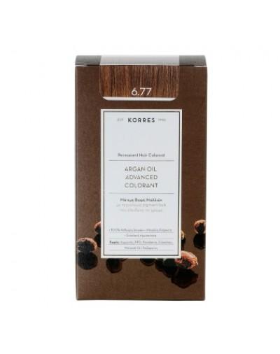 Korres Argan Oil Advanced Colorant Μόνιμη Βαφή Μαλλιών 6.77 Πραλίνα [ΚΩΔ.6598]