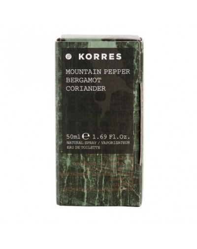 Korres Ανδρικό Άρωμα Mountain Pepper, Bergamot and Coriander 50ml [ΚΩΔ. 7851]