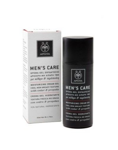 Apivita Men's Care Κρέμα - Gel Ενυδάτωσης με Δροσερή Μη Λιπαρή Υφή 50ml [ΚΩΔ.0304]