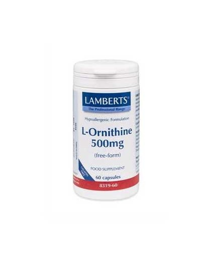 Lamberts L-Ornithine 500mg Ορνιθίνη 60 Caps [ΚΩΔ.0744]