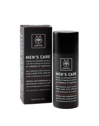 Apivita Men's Care Anti-Wrinkle, Anti-Fatigue Face & Eye Cream 50ml [CODE 0305]