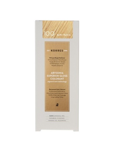 Korres Abyssinia Superior Gloss Colorant 10.0 Platinum Blonde 50ml [CODE 7273]