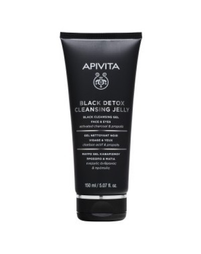 Apivita Black Detox Cleansing Jelly with Propolis & Activated Charcoal 150ml [CODE 9327]