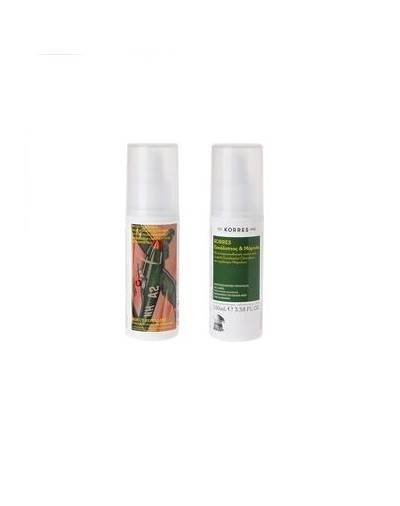 Korres Myrtle and Eucalyptus Insect Repellent Spray 100ml [CODE 7594]