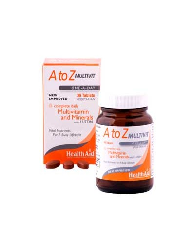 Health Aid A to Z Multivit - Lutein 90 tabs [CODE 5318]